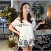 Lady Ribbon Floral Soffy Stitch Blouse