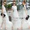 Lady Ribbon Maxi Dress เดรสยาวผ้าลูกไม้สีขาว