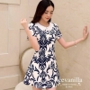 Icevanilla Delicate Flower Pearl and Diamond Print Dress