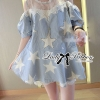 Lady Ribbon Beaded Star Cotton Dress