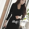 Lady Ribbon Smart Casual Wrap Suit Dress