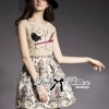 Lady Ribbon Dreamy Garden Embroidered Sleeveless Dress