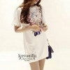 Icevanilla Lively Jewels Round Neck Pastel Dress