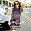 Seoul Secret Chic Navy Bohe Mini Dress