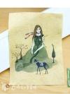 ผ้าฝ้ายวาดวิลเทจ สวย น่ารักมากค่ะ ขนาด 19.5x14.8 cm/บล็อก