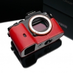 Gariz Leather Half-case for Sony A7 Red
