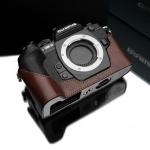 Gariz Leather Half-case for Olympus E-M1: Brown