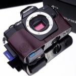 Gariz Leather Half-case for Olympus E-M5: Brown