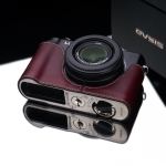 Gariz Leather Half-case for Lumix LX7 : Brown