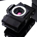Gariz Leather Half-case for Olympus E-M5: Black