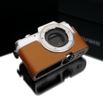 Gariz Leather Half-case for Panasonic GF7: Light brown