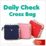 Daily Check Cross Bag กระเป๋าสะพายเฉียงใบเล็ก
