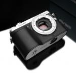 Gariz Leather Half-case for Lumix GX7: Black
