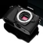 Gariz Leather Half-case for Olympus E-M10 : Black