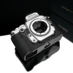 Gariz Leather Half-case for Nikon Df : Alcantara Charcoal Gray