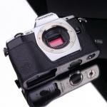 Gariz Leather Half-case for Olympus E-M5: Special Black
