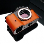 Gariz Leather Half-case for Sony A7 Orange