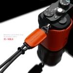 Gariz Leather Wrist Strap : XS-WBL8 (Orange)