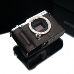 Gariz Leather Half-case for Fuji X-M1, X-A2: Brown