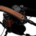 Gariz Leather Neck Strap : XS-CHLSNCM2 (Camel)