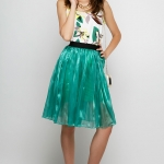 Green Shining Skirt