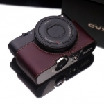 Gariz Leather Half-case for Sony RX100: Brown