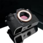 Gariz Leather Half-case for Sony A7 II : Alcantara Gray