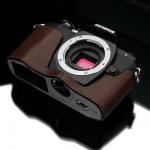 Gariz Leather Half-case for Olympus E-M10 Brown
