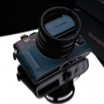 Gariz Leather Half-case for Sony RX1: Blue / with Leather Cap Cover