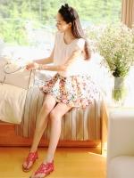 Cherry KOKO Sweet Floral Set ชุดเสื้อ กระโปรงผ้าชีฟอง พิมพ์ลายดอกไม้