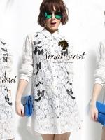 Seoul Secret Chic Butterfly Lace Shirt