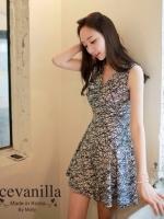 IceVanilla Romantic Ops Sensual Printing Dress