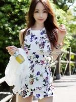 Seoul Secret Lovely Bloom Bloom Print Jumpsuit