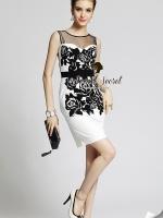 Seoul Secret Party Lux Black Bloom Dress