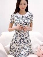 Icevanilla Floral Pearl & Diamond Print Dress