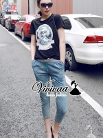 Vivivaa Marilyn Monroe Soft Denim Pants Set