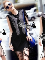 Vivivaa Glitter Pinion Dress