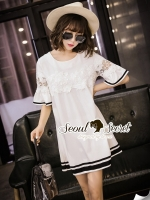 Seoul Secret Bell Sleeve Nifty Lace Dress