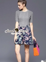 Seoul Secret Skirt Dress Knit Set