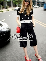 Vivivaa Dotty Dotty Black White Set