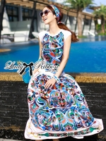 Lady Ribbon Colourful Graphic Printed Set