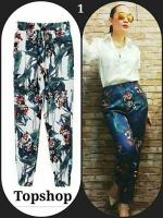 กางเกงแฟชั่นสไตล์ไฮแบรนด์ กางเกงเอวสูง พิมพ์ลายดอกไม้