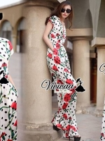 Vivivaa Dotty Red Rose Long Playsuit