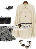 Seoul Secret Goldy Angle Lapel Shirt