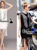 Vivivaa Glitter Pinion Dress