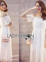 Lady Ribbon Maxi Dress เดรสเปิดไหล่