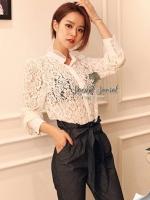 Seoul Secret Smart Ivory Lace Shirt