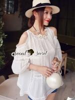 Seoul Secret Sweety Lady Ivory Blouse