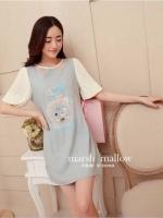 Marsh Mallow Mona Jewel & Beaded Stitching Dress