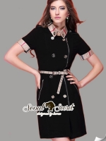 Seoul Secret Burberry Clasper Dress